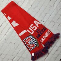 Vtg UNITED STATES vs MEXICO Land of the Free Columbus SCARF Soccer USA USMNT