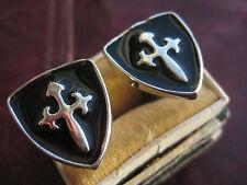 aparte Manschettenknöpfe cuff links Kreuzritter crusader Schild Wappen Emaille