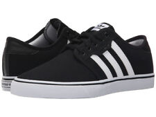 ADIDAS SEELEY CANVAS BLACK WHITE MEN'S SKATEBOARD SNEAKERS SHOES