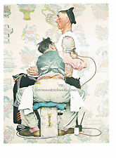 "Norman Rockwell vintage print: ""THE TATTOO ARTIST"" Sailor TATTOOIST NAVY ink"