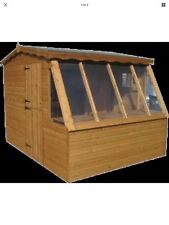 8x8 APEX SOLAR POTTING SHED PENT ROOF (WOODEN SHED) (GARDEN SHED)  (GREEN HOUSE)