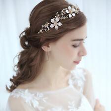 Rhinestone Crystal Flower Tiara Hair Wedding Headpiece Bridal Accessories