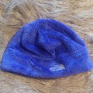 The North Face Denali Furry Beanie Ski Hat - Blue/Purple Color Youth Medium