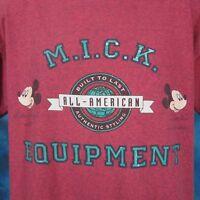 e612fb8b1e1b vintage 90s MICKEY MOUSE MICK EQUIPMENT WALT DISNEY T-Shirt LARGE cartoon  thin