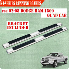 "Fit 02-08 Dodge Ram 1500 Quad Cab 4"" Nerf Bar Side Bar Running Board Chrome H"