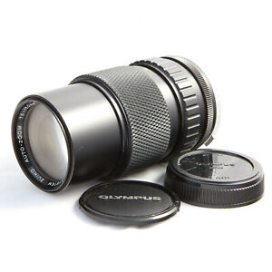 OLYMPUS OM ZUIKO 75-150MM F4 FAST ZOOM LENS WITH CAPS - EXCELLENT