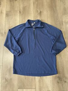 Ibex 1/2 Zip Pullover Sweatshirt Men's Medium Blue Merino Wool