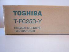 New & Genuine Toshiba T-FC25D-Y Yellow Toner Cartridge e-Studio 2040c 2540c 3040
