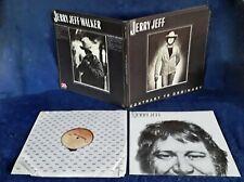 JEFFY JEFF WALKER - CONTRARY TO ORDINARY - MCA LP + LYRIC SHIEET - GATEFOLD CVR