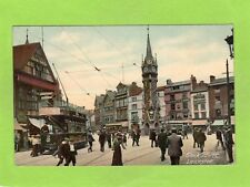 Clock Tower Leicester Tram pc used 1906 Living Picture  Ref E353