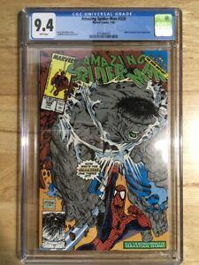 Amazing Spider-man #328 - CGC 9.4 - NM - Hulk - Sebastian Shaw - McFarlane Cover