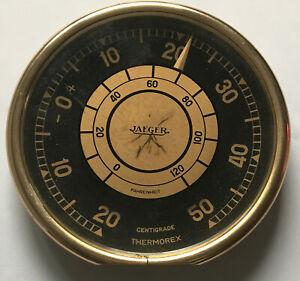 Thermometre JAEGER Thermorex Suisse Années 50 Vintage Meteo