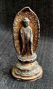 Japanese Buddha Wood Sculpture