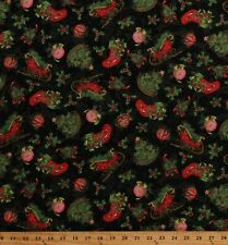 Cotton Christmas Stockings Ornaments Festive Holiday Fabric Print BTY D504.58