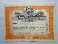 Western Apex Mining Company   A 1923 Arizona Corporation