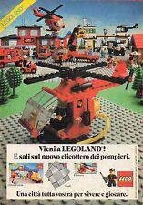 Pubblicità Advertising Werbung 1982 LEGO  Elicottero dei pompieri