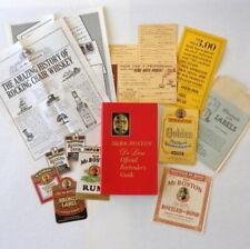Lot Vtg 1964 Old Mr. Boston Bartenders Guide Liquor Labels Pourer Order Form Ads