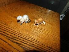 Otter Figurine Bone China + Plastic Raccoon Vintage