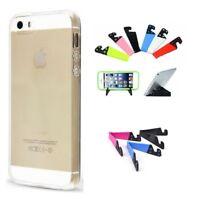 Coque Silicone Gel TPU Clair Ultra Fine Iphone 5 5S 5SE - Support Offert -