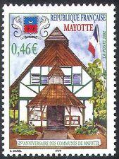MAYOTTE 2002 Commune 25th Anniversaire/Drapeau/bâtiments/architecture 1 V (n42701)