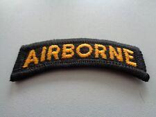 US Airborne Tab Aufnäher Patch Schwarz Gelb
