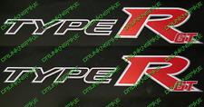 Honda Civic Type R GT FN2 FK2 FK8 VTEC Red x2 Panneau Latéral Jupe autocollants k20