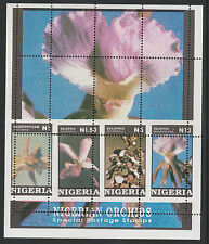 Nigeria (304) 1993 Orchids  m/sheet with MAJOR PERF ERROR  unmounted mint