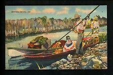 Native Americana postcard Seminole Indian, Florida Everglades Moving Day linen