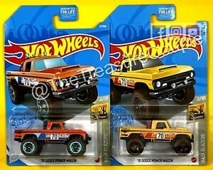 Hot Wheels 2021 - Lot of 2 - '70 DODGE POWER WAGON - New Release - E72