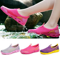 Women's Summer Breathable Water Shoes Casual Slip On Mesh Shoes Walking Sneakers