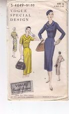 Vogue Special Design Dress Wrap Front Variations Sewing Pattern 4649 Original