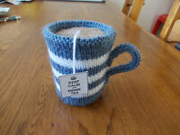Hand knitted cup of tea - fab toy or unusual gift