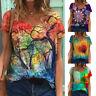 Plus Size Women Short Sleeve T Shirt V Neck Baggy Blouse Tops Tunic Tees Summer