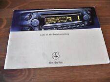 Mercedes AUDIO 30 APS BECKER OPERATION guide instruction Radio CD de navigation 203