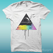 """T-Shirt """"Triangle Moon Luna"""" white the happiness is have my T-Shirts NEW"""