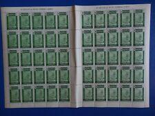 1936 - España - Edifil 714 - Pliego 50 sellos - 10 Céntimos Verde - MNH