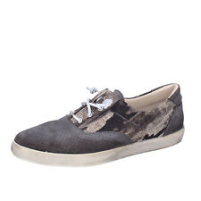 Chaussures Hommes BEVERLY HILLS POLO CLUB 41 Ue Baskets Gris Toile Daim AG168-C