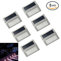 6X Bright Solar Powered LED Door Fence Deck Wall Lights Outdoor Garden Lighting