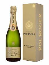 6 bottles CHAMPAGNE vintage 2009 BLANC DE BLANCS astucciati POL ROGER