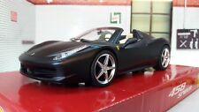 1:24 Scala Ferrari 458 Spider nero dettagliato Hot Wheels SUPERBO