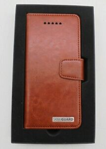 NEW Skim/Guard Brown Leather Phone Case  with Anti-Skimming Protection Sleeve