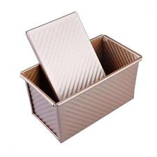 Non Stick Bread Baking Loaf Tin & Bar Cake Pan with Lid Cover Golden 450g 1