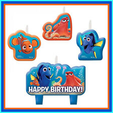 FINDING DORY.... SET OF 4 BIRTHDAY CANDLES... GENUINE LICENSED PRODUCT