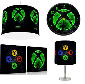 """XBOX NEON choose from Lampshade 12"""" , Stick Lamp , Wall Art , Clock or Bundle"""