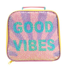 Polar Gear Good Vibes Sunshine Sequin Lunch Bag Kids Girls Lunch School Pack Up