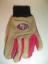 San Francisco 49ers Football adult sz Nfl Team Utility Garden driving Gloves