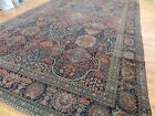 11x17 Oversize Antique Tabrize style Oriental Area Rug Navy Red purple turquoise