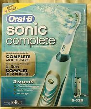 BRAND NEW—SEALED—Braun Oral-B SONIC COMPLETE S-320 Power Toothbrush—FREE SHIP!!