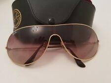 Ray-Ban Aviator gold wrap around RB3250