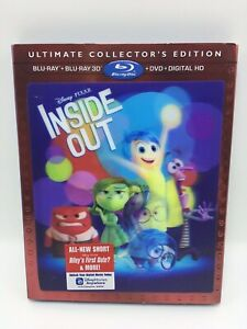 Disney Pixar Inside Out Collector's Edition, Blu-Ray + 3D + DVD - Very Good
